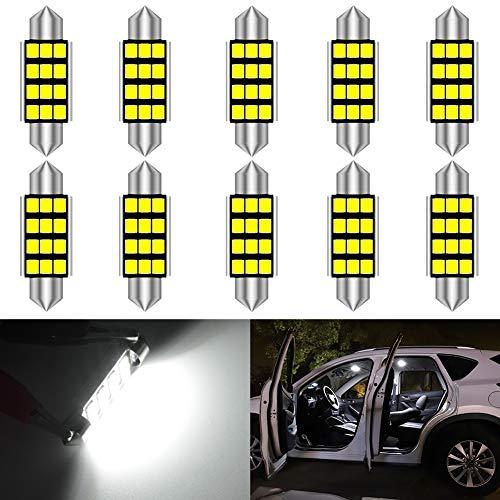 KATUR DE3425 Festoon C5W Ampoules LED 39mm Lumière Blanche Canbus sans Erreur pour 6461 Lumière intérieure, Lumière de dôme, Lumière de Carte, Lumière de Porte, Lumière de Coffre (Lot de 10)