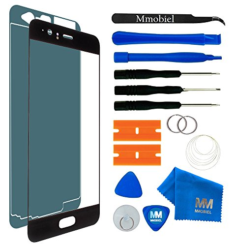 MMOBIEL Kit de Remplacement vitre Frontale Compatible avec Huawei P10 VTRL09 VTRL29 (Noir) 5.1 inch écran Tactile Inclus: Outil 11 de pièce