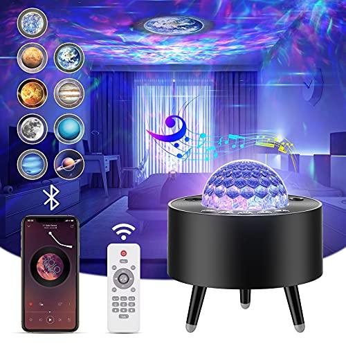 Lampada Proiettore Stelle,Proiettore Stelle Soffitto con 15 Rotazione Oceano Luci Modalità,LED Luce Notturna con...