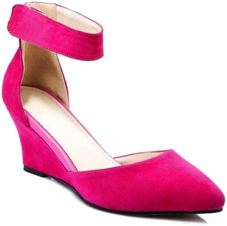 JIANXIN Damenmode Trend Trend High Heels TPR (Rindfleisch Sehne) Rot Schwarz Sandalen. (Farbe   Magenta, Größe   EU 40 US 9 UK 7 JP 26cm)  neu eingebrannt