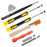 eXtremeRate T6 T8H Screwdriver Set Opening Tools Repair Kits with Spare Screws Tweezers Prying Tool for Xbox One, Xbox One Elite V1 V2, Xbox One S, Xbox One X and Xbox 360 Controller