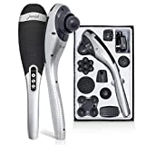 [Bonus Bag] Simbans Juvenik Percussion Massager for Back & Full Body | Portable, Cordless, Rechargeable | Handheld Vibrating Electric Machine | Muscle Deep Tissue Pain Relief Therapy Plantar Fasciitis