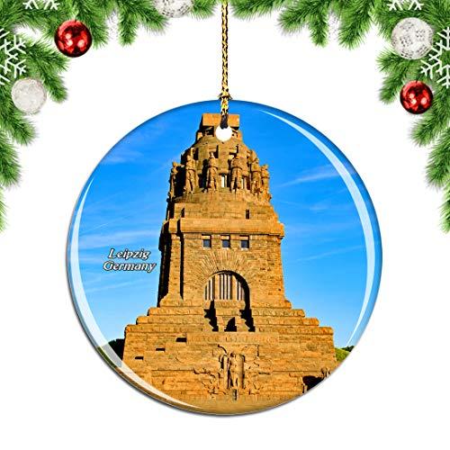 Weekino Deutschland Denkmal Leipzig Weihnachtsdekoration Christbaumkugel Hängender Weihnachtsbaum Anhänger Dekor City Travel Souvenir Collection Porzellan 2,85 Zoll