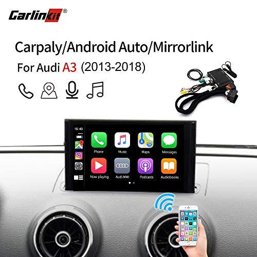 Carlinkit Wireless iOS Carplay Receiver Box Interface for Audi A3 (13-18) Original carplay retrofit(Support Navigation,Google&Waze Map, Music,Mirroring)