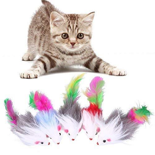 N-K 5 Stücke Weiche Katze Spielzeug Maus Fleece Gefälschte Lustige Katze Kätzchen Spielen Spielzeug Ausgezeichnete Qualität