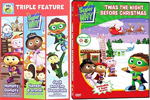 Super Why 4 Pack: Humpty Dumpty / Hansel and Gretel / Jack and the Beanstalk /Twas' the Night Before Christmas DVD Set