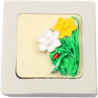3D Chinese Style Bouquet Flowers Fondant Silicone Molds Candy Art Decoration Tool DIY Baking Chocolate Ice Cube Tray Mold Handmade Soap Polymer Clay Molds (Daffodil)
