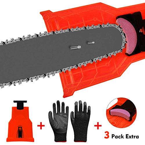 Chainsaw Sharpener, Universal Chain Saw Blade Sharpener Fit for 2-Hole 14/16/18/20 Inch Chainsaw...