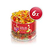 Red Band Willy das Würmchen 1,1 kg Dose – 6er Pack | Fruchtgummi