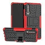 LFDZ Huawei P30 Custodia, Resistente alle Cadute Armatura Robusta Custodia Shockproof Protective Case Cover per Huawei P30 Smartphone (Non Compatibile con Huawei P30 Lite / P30 PRO),Rosso