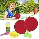 Tennis da tavolo con bolle per bambi, Giocattolo per bambini Bolle magiche Tavoli sospesi Bolle di racchette da tennis Sostituisci i nuovi set di ping pong Set - Puntelli magici interattivi all'aperto