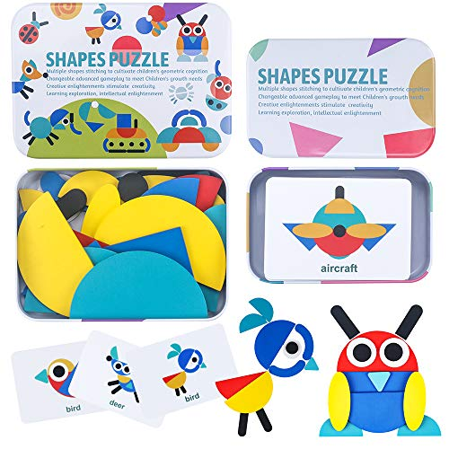 Find Discount CENOVE Toddler Toys for 3+ Years Olds Shapes Puzzle Educational Toys Montessori Toys f...