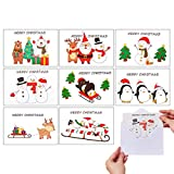 VEYLIN Xmas Greeting Cards, 32 Merry Christmas Holiday Greet Gift Card with Envelopes