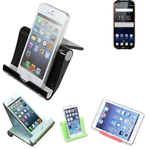 K-S-Trade® Per Oukitel WP5000 Supporto da Tavolo Dock Nero, Forte, Leggero E Compatto Multi-Angolo Basamento Smartphone Fold-up Stazione