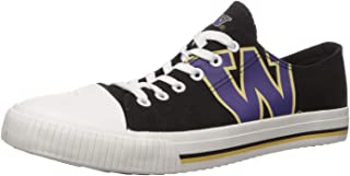 FOCO NCAA Mens College Low Top Big Logo Canvas Sneakers Shoes