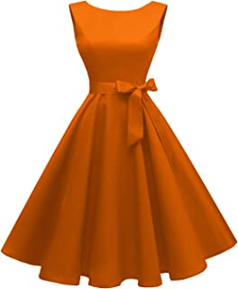 Hanpceirs Women`s Boatneck Sleeveless Swing Vintage 1950s Cocktail Dress