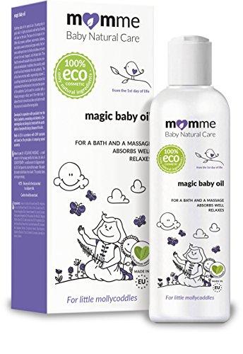 Aceite mágico para bebés, orgánico, aceite de macadamia, aceite de sésamo, aceite de almendra dulce, manzanilla (5.1 onzas líquidas)
