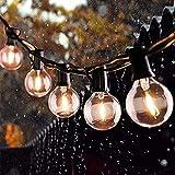 [29 Bulbs] Catena Luminosa Esterno, 8M G40 Catena di Lampadina con 25 Bulbi & 4 Lampadine di Ricambio, Impermeabile Catena Luci Decorative per Festa, Giardino, Matrimonio, Terrazza, Halloween