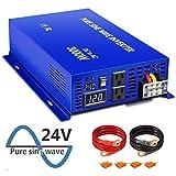 XYZ INVT Pure Sine Wave Power Inverter 3000W / 6000W (Peak) Car Caravan RV Camping Boat DC 24V Inverter Soft Start DC to AC 110V 120V Inverter Converter with LED Display