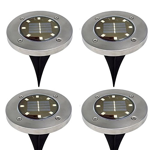 Goosun acht LED Solar Macht Begraben Licht Boden Lampe Im Freien Pfad Weg Terassendielen für Garten Rasen Hof Solarbetriebenes Bodenlicht Wohnkultur Wohnzimmerlampe Nachtleuchte Weihnachtsbeleuchtung