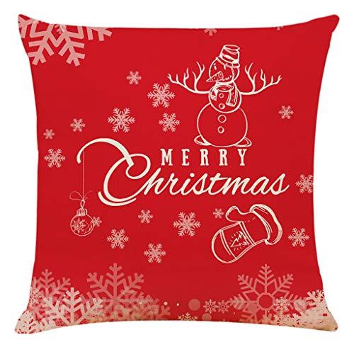 Kolylong® Kissenbezug Merry Christmas Decoration Bettwäsche Hirsch Sofa Cover Bettwäsche Weihnachten Deko Kissen Kissenbezüge 45 x 45cm