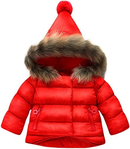 Jojobaby Baby Boys Girls Hooded Snowsuit Winter Warm Fur Collar Hooded Down Windproof Jacket product image