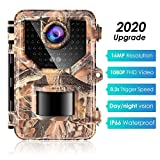 Sesern Trail Camera 16MP 1080P, IP66 Waterproof Game Cam with 940nm No Glow IR...