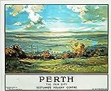 Scotland Railway vintage poster 42 Perth p9801 A1 Canvas -