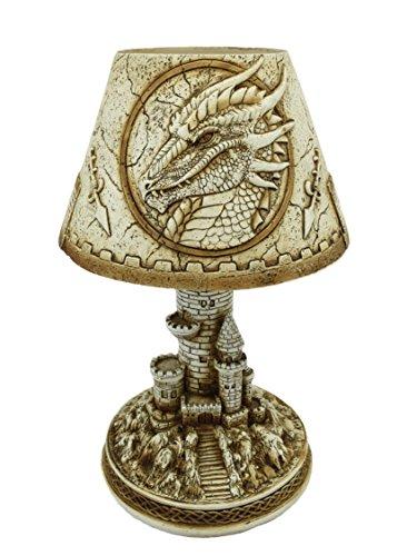 Féeries et merveilles Lampe Dragon, Statuette Dragon, Lampe D'AMBIANCE Dragon LED (HT 15.5 x 11.5 cm) - MODÈLE 2