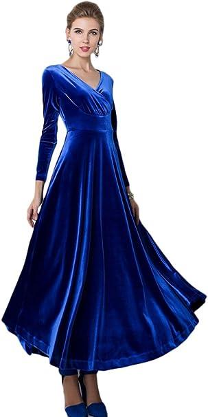 Abendkleid Blau Langarm  Atlanta 2022