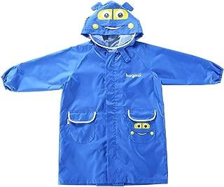 LHY- Raincoat S/M/L Children's raincoat Primary School Pupil, boy, Girl, Child, Cartoon, raincoat Convenient (Color : Blue, Size : S)
