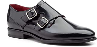KL-8007 Monk Leather Shoes with Two Buckles and Rubber Sole