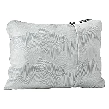 "Therm-A-Rest Compressible Travel Pillow for Camping, Backpacking, Airplanes and Road Trips, Gray, Medium: 14"" x 18"""