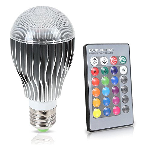 GPCT LED 9W Color Changing Bulb with 64 Levels of Brightness/Color Combinations and 5 Lighting Modes - 1 Pack