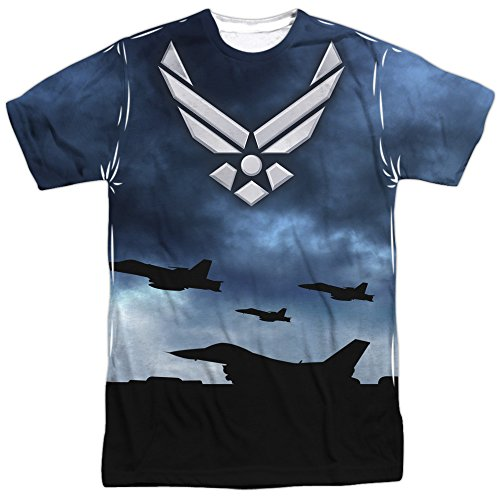 Air Force - - Hommes Take Off (Front / Back Imprimer) T-shirt, Large, Sublimate White