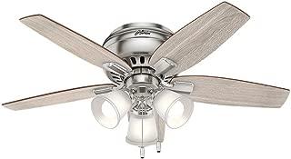 Hunter 51075 Echo Bluff 42 in. LED Indoor Brushed Nickel Ceiling Fan