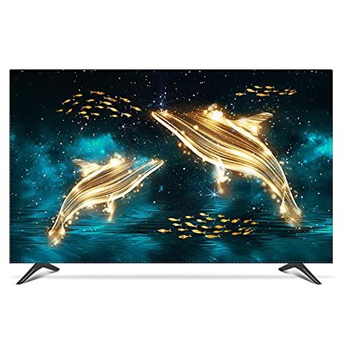 yuanyuanliu Tapas De Polvo De TV, Costo De TV, Costo De La Tela, Montaje En La Pared De 55 Pulgadas 50 Curvas Cubiertas Cubiertas DE TV LCD (Color : B, Size : 32inch)