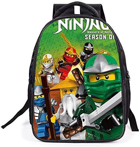XWXBB Ninjago-schooltas, kinderdag-karikatuur-anime-rugzak, lichte draagbare rugzak, grote capaciteit, voor buiten