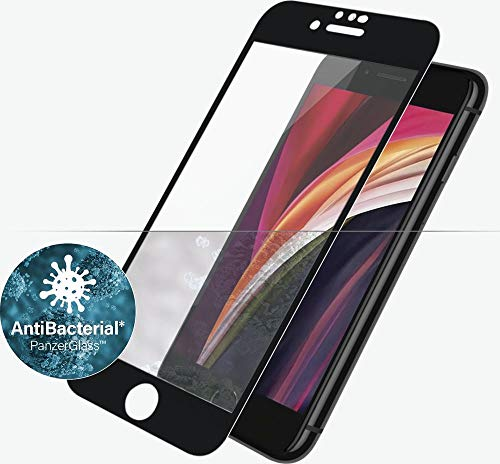 PanzerGlass E2E iPhone 6/6s/7/8/SE 2020 CF Antibakt, Black - Compatible con iPhone 6, iPhone 6s, iPhone 7, iPhone SE (2020), iPhone8