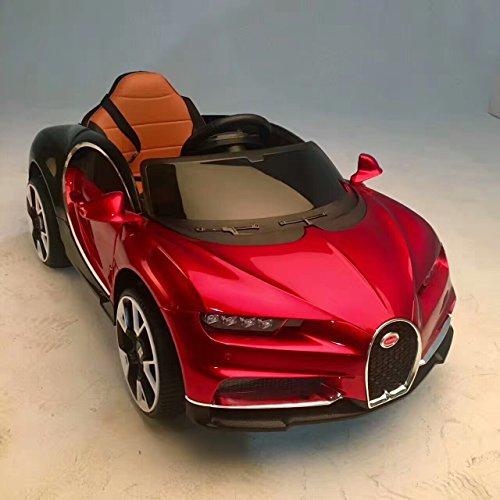 Mode double enfants Ride On Bugatti Chiron électrique Style enfant batterie 12 V télécommande jouet de voiture | relier & Drive | portes ouverte | de la plus haute qualité Design Painted & 2 x Moteur (Bleu)