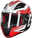 GPFFACAI casco integral moto mujer Casco de motocicleta retro casco integral, casco de ciclomotor, casco de scooter, casco de motocicleta, casco de motocicleta todoterreno con gafas antivaho(Size:X-La