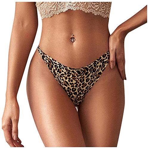 Dasongff Leopard Drucken Sexy Tanga Panties Damen String Thong Slip Unterhose Leopardmuster Dessous Tangas Reizvolle Briefs Hipsters Schlüpfer Unterwäsche Low Waist Frauen Sexy Unterwäsche