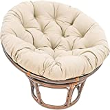 LYHVV Overstuffed Papasan Chair Cushion with Ties, Round Thicken Cotton Soft Hanging Egg Hammock Chair Pads Diameter 41 Inch(Not Included Chair)