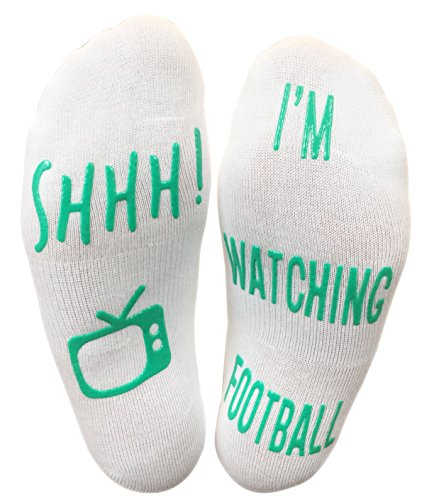 Football Gift 'Shhh I'm Watching Football' Funny Novelty Socks For A F