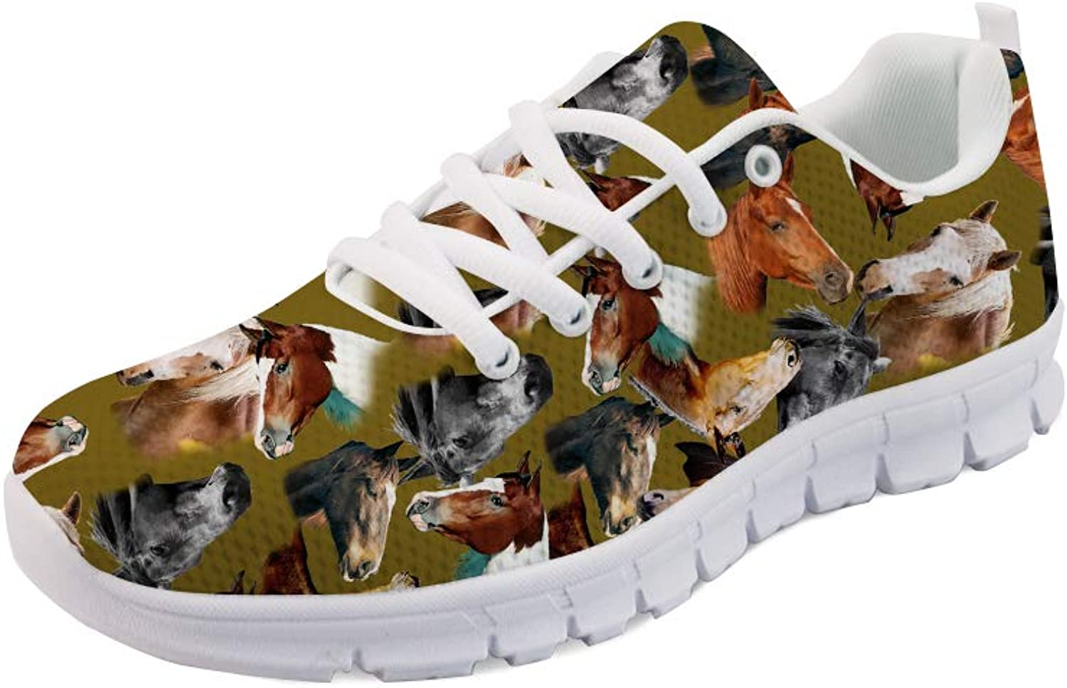 INSTANTARTS Women's Lightweight Walking Athletic shoes Running Horse Sneakers