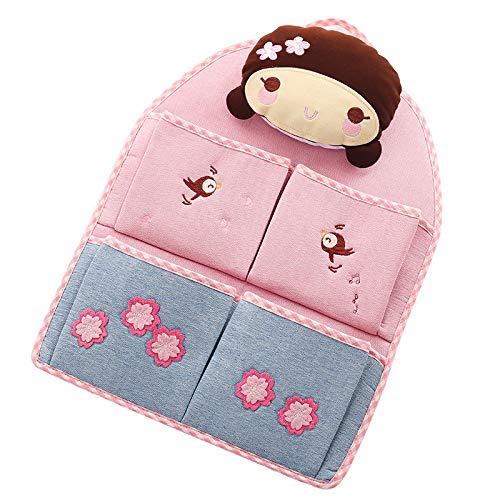 Tyhthfzx 2-Pack Stoff Hängende Tasche Wand Hängen Haushalt Aufbewahrung Tasche Tür-montiert E-Tasche Kleiderschrank Hängentasche Schlafsaal Bett Sammlung Tasche