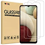 WFTE [2-Pack] Protector de Pantalla para Samsung Galaxy A12,9H Dureza,Huellas Dactilares Libre,Sin Burbujas,Cristal Templado Galaxy A12