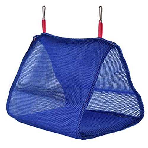 YITON Bird Cage Blue Soft Mesh Bird Cage Parrot Hammock Breathable Hanging Bed Cage Pet Supplies Swing Tent Nest House 2Pcs L