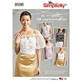 Simplicity US8598BB Women's Special Occasion Tops Sewing Patterns, Sizes 18W-26W