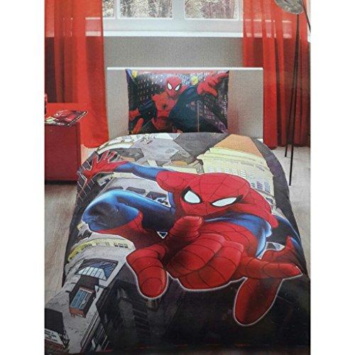 Spiderman In City, beddengoed dekbedovertrek set, eenpersoons / 2 aparte bedden